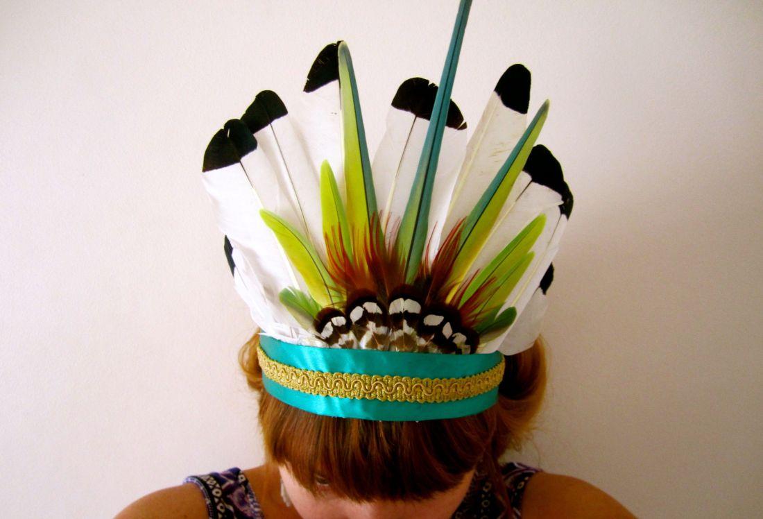 new head dress made for an africa burner